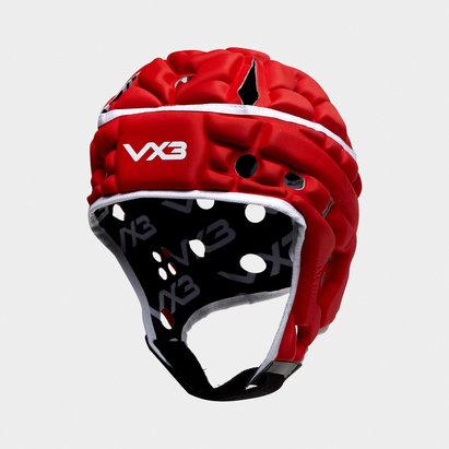 VX3 Casque de Rugby Airflow Rouge et Blanc