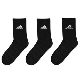 adidas Chaussettes noires molletonnées Crew, Lot de 3 paires