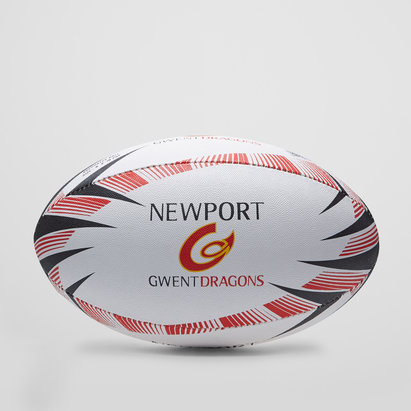 Gilbert Newport Gwent Dragons Supporters Rugby Ball