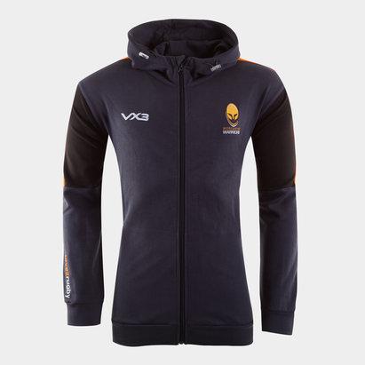 VX3 Sweatshirt à capuche Worcester Warriors 2019/2020 avec Zip intégral