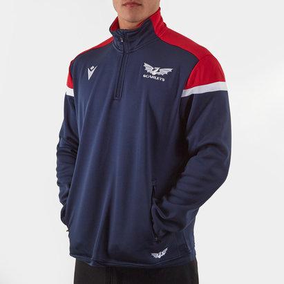 Macron Veste polaire de rugby 1/4 zippé, Scarlets 2019/2020