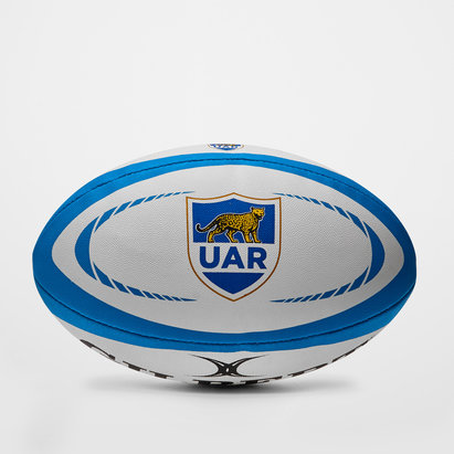 Gilbert Argentine - Ballon de Rugby Réplique Officiel Blanc/Bleu/Or