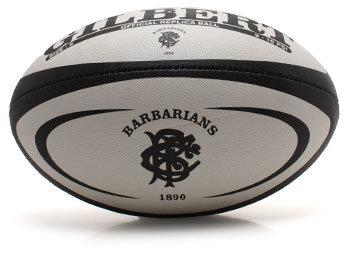 Gilbert Réplique Ballon de rugby officiel des Barbarians Blanc/Noir.