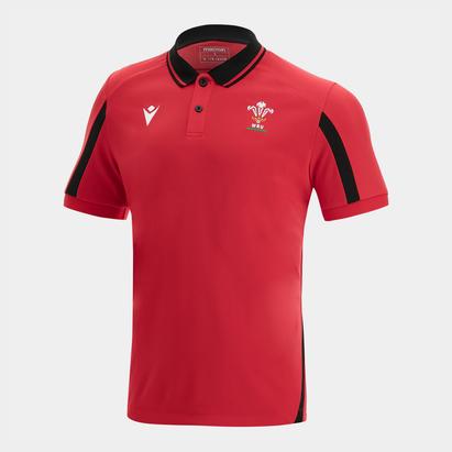 Macron Wales 21/22 Polo Shirt Mens