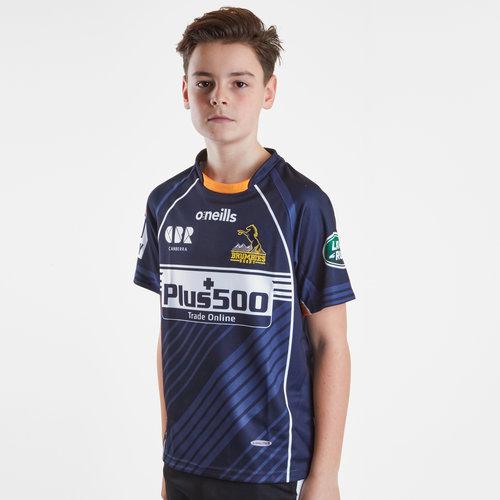 Maillot de Rugby Brumbies 2019 exterieur pour enfant, manches courtes