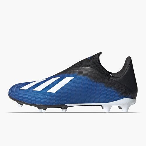 adidas X 19.3, Crampons de Football FG sans Lacets pour