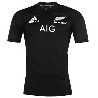 Nlle Zélande All Blacks 2017/18 - Maillot de Rugby à Domicile