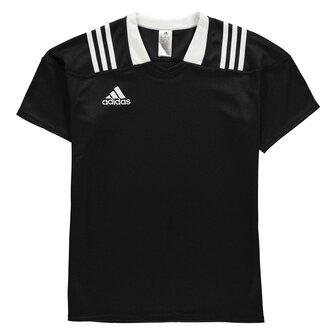 adidas Team Wear - Maillot de Rugby Ajusté 3 bandes