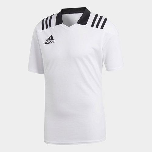 adidas Team - Maillot de Rugby Ajusté 3 Bandes
