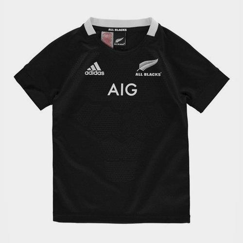 Nlle Zélande All Blacks 2018/19 - Maillot de Rugby Domicile Enfants