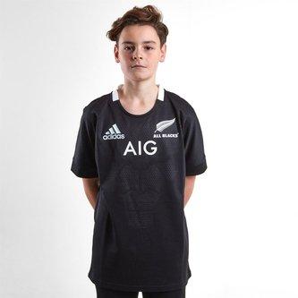 Nlle Zélande All Blacks 2018/19 - Maillot de Rugby Domicile Adolescents