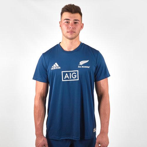 Nlle Zélande All Blacks 2018/19 - Tshirt de Rugby Entraînement Joueurs Parley
