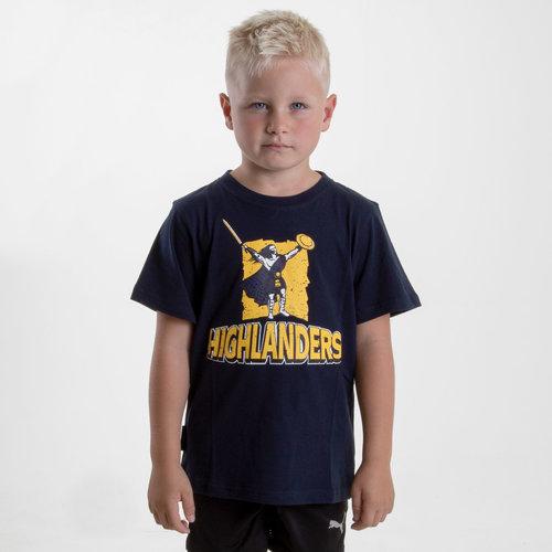 Highlanders 2018 - T-shirt de Super Rugby Graphic Enfants