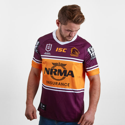 Brisbane Broncos NRL 2019 - Maillot de Rugby Domicile