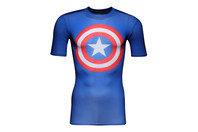 Under Armour Captain America - Tshirt de Compression à Logo MC