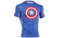 Under Armour Captain America Enfants - Tshirt de Compression à Logo MC