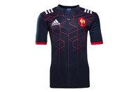 adidas France 2016/17 Enfants - Maillot de Rugby Réplique Domicile